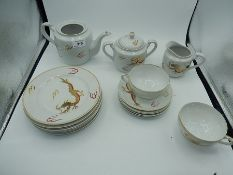 A part tea set - Dragon China a/f