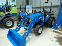 SOLIS 26 COMPACT TRACTOR WITH FRONT LOADER