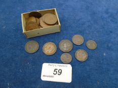 Collection of coins to incl 2x 1/3 farthing, 2x 1944 1/2 farthings, 2 x 1/4d 1893 and 1909 plus