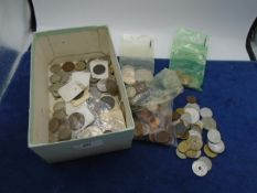 Box of mixed coins mostly British and mainly decimal
