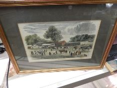 "Antique print of "" Arrival of the Cattle "" 9 1/2 x 6 1/2 inches"