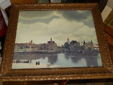 Gilt Framed Print frame size 20 1/2 x 17 1/2 inches