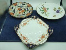 3 Plates including Royal Worcester Evesham
