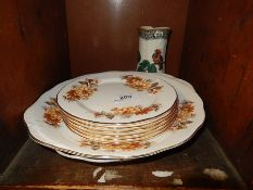 Mixed lot of china to include Queen Anne cake plate and side plates, Amari dish and Adderleys