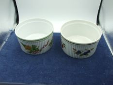 2 Royal Worcester souffle dishes one Evesham one Country Kitchen both 7 x 4 inches
