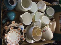 Box of Assorted China from house clearance