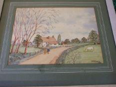 A E Chapman watercolour 34 x 23 cm