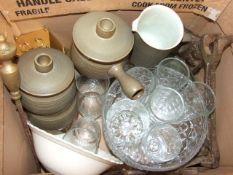 Box of Assorted China , Glass etc