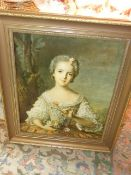 Framed Print of Lady 17 x 21 inches