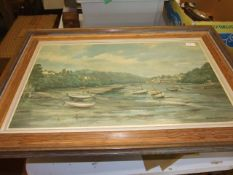Robin Goodwin The Yealm River Newton Ferrers signed artists proof print 27 x 17 inches