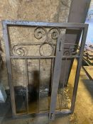A handcrafted metal garden gate 3ft x 4ft with hinge bracket