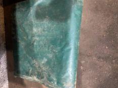 Green tarpaulin approx 22ft x 15ft