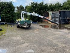 IFOR WILLIAMS FLAT BED TRAILER WITH LIFT CRANE