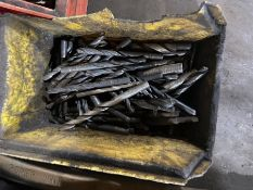 Two boxes of used drill bits