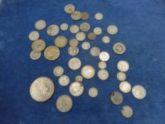 1 dollar 1972 cook island plus about 30 'silver' coins mostly foreign