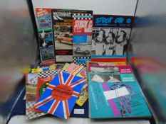 Collection of 90+ Stock Car Motor Racing Programmes from the 1970's and 1980's to include British