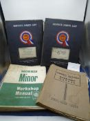 A collection of vintage motoring ephemera relating to Morris Minor to include Morris Oxford Series
