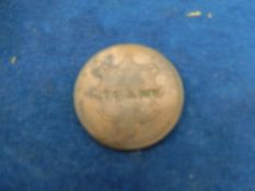 Jersey shilling 1842 overstamped HXVIEER