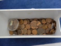 A small box of 1\2d kg mainly post Victorian plus small quantity of 1\2p