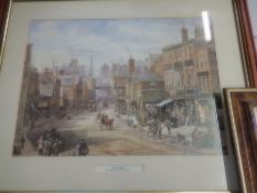 signed watercolour by D. Lebeau and 2 framed prints by Louise Rayner