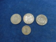 1x Hungary coin ferencz Jozsef 1876, spanish Escudo Esabel II 1867 plus 2 spanish coins