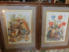 2 nature inspired prints signed Mitchell