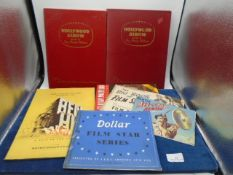 Collection of vintage Hollywood film star ephemera to incl picture card albums, Story of the