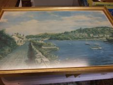 Robin Goodwin Newton Ferrers signed artists print 30 x 20 inches