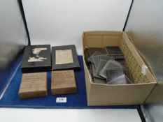 Large collection of glass photographic plates including Russian Tsar imperial pre-1917, including