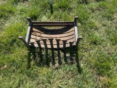 metal fire grate in fair condition
