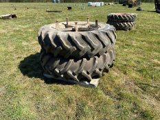 Pair of dual wheels 18.4/38 good condition