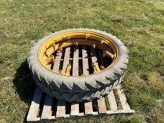 Pair of 6.50/44 row crop wheels