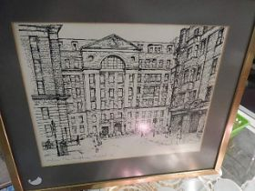 Ltd Edition 157/250 signed print of Middlesex Hospital 13 x 11 inches