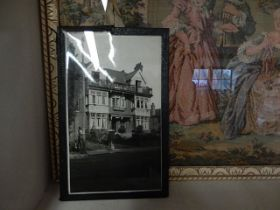 Stitchwork and vintage photo of Abbey View High Wycombe 14 x 10 inches