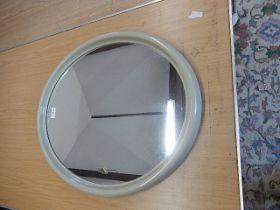 Retro Oval Plastic Framed Mirror 23 x 19 inches