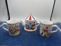 Wade Ringmaster teapot with matching mugs