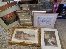 assorted prints and mirrors