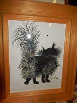 Anna Nicolopolu watercolour of cat 10 x 8 inches