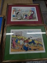 4 After Rowlandson satirical studies 10 x 14 inches