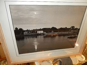 Picture of Kings Lynn, near the docks, taken from west Lynn side of the Ouse 15 x 11 inches