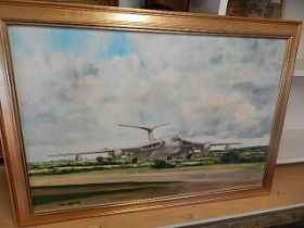 Don Walmsley Oil on canvas of Victor Bomber 20 x 30 inches
