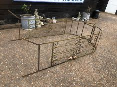 Large wrought iron garden arch