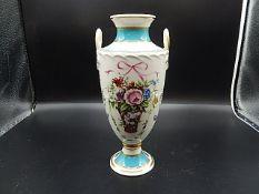 Minton rose basket vase