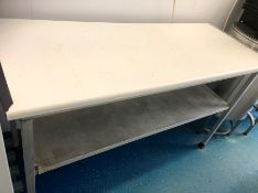 "Stainless Steel work food preparation table, 36"" x 24"" x 34"""