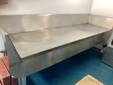 "Stainless steel butcher's work table / food preparation table 115"" x 36"" x 36"""