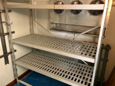 """Cold store shelving 59"""" x 71"""" x 23"""""""