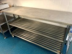 "Stainless steel workbench food preparation table 71"" x 28"" x 36"""
