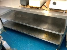 "Stainless steel butchers workbench food preparation table 70"" x 24"" x 39"""