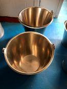 "12"" tall buckets x 2"