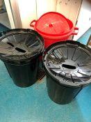 3 plastic bins